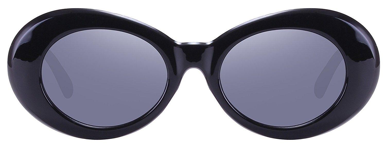 e7a9616a685d0 Retro Oval Mod Thick Frame Clout Goggles Kurt Cobain Sunglasses -  CJ180NGSARI - Women s Sunglasses