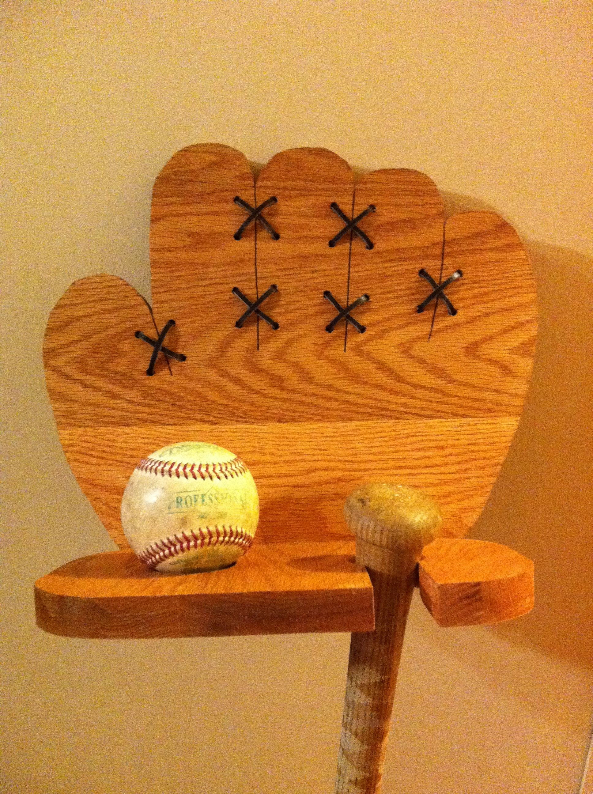 Ball And Bat Holder Sports Stuff In 2018 Pinterest Wood Wood
