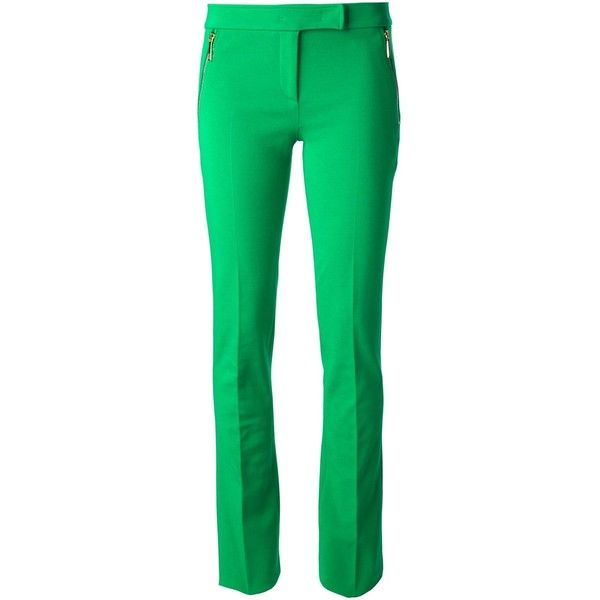 EMILIO PUCCI tailored trouser ($515) ❤ liked on Polyvore featuring pants, trousers, bottoms, calças, emilio pucci, slim pants, slim fit pants, green pants and tailored pants