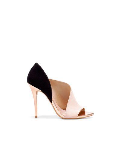 LAMINATED HEEL SANDAL - Shoes - Woman - ZARA United States ($50-100) - Svpply