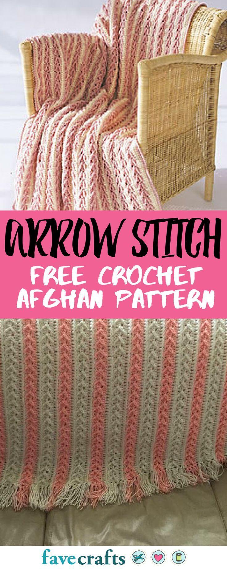 Arrow Stitch Crochet Afghan | Decken, Ajourmuster und Häkelmuster