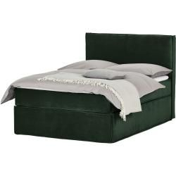 Photo of Box spring bed – green – 140 cm – 125 cm – beds> double beds furniture Kraft