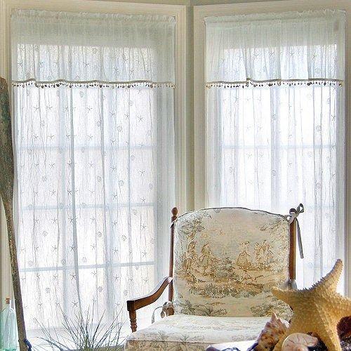 Sheer Curtain Panels, Coastal Window Curtains