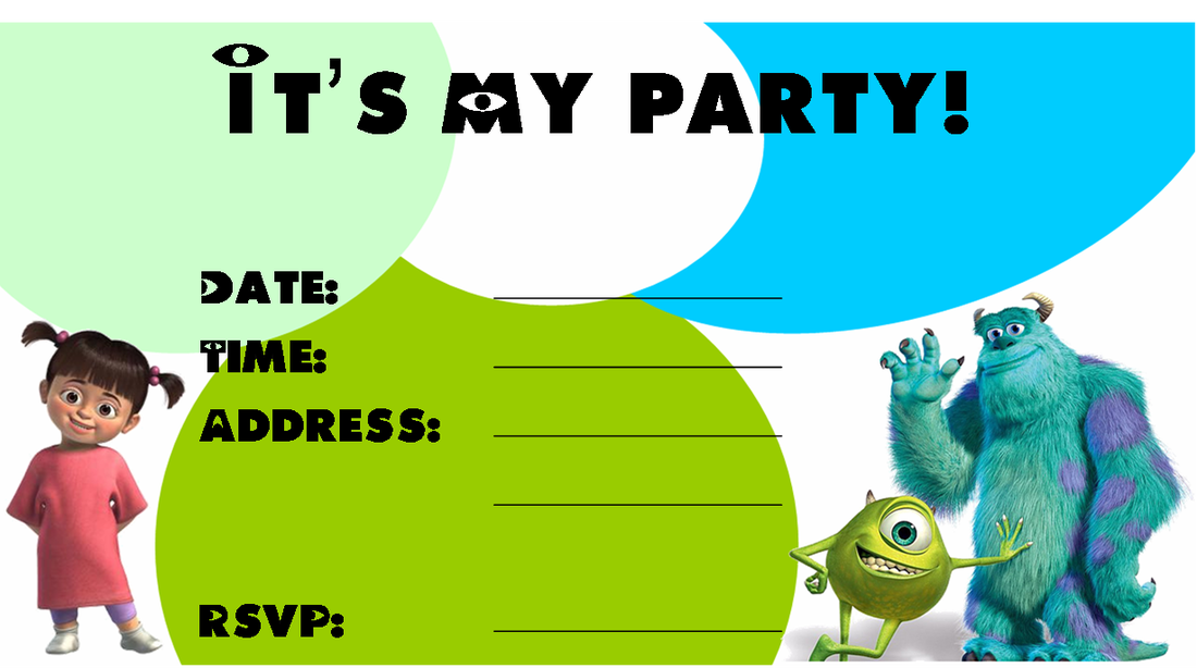Free Monster\'s Inc Party Ideas - Creative Printables | Shower ...