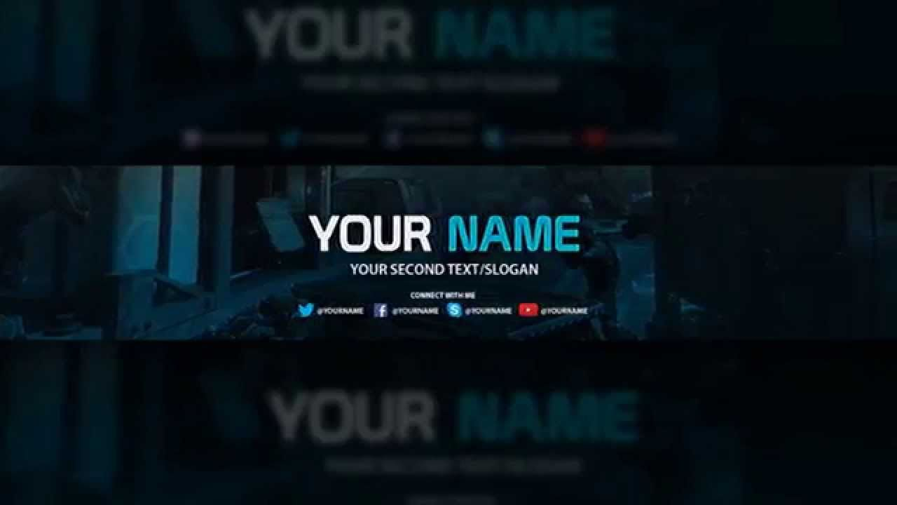 Blue Youtube Banner Template Download