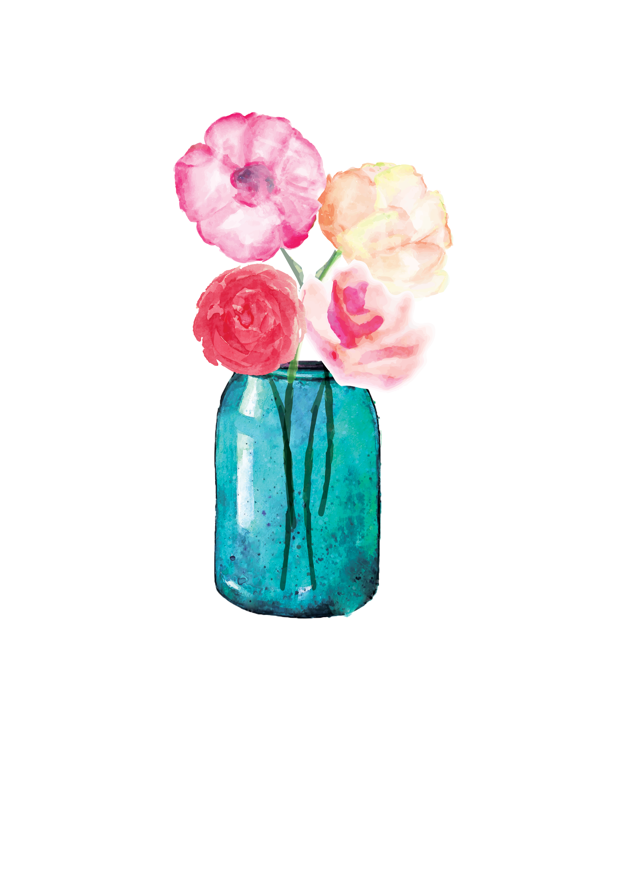 Lauren Baxter Flowers In A Mason Jar Plants Pinterest Jar And Watercolor