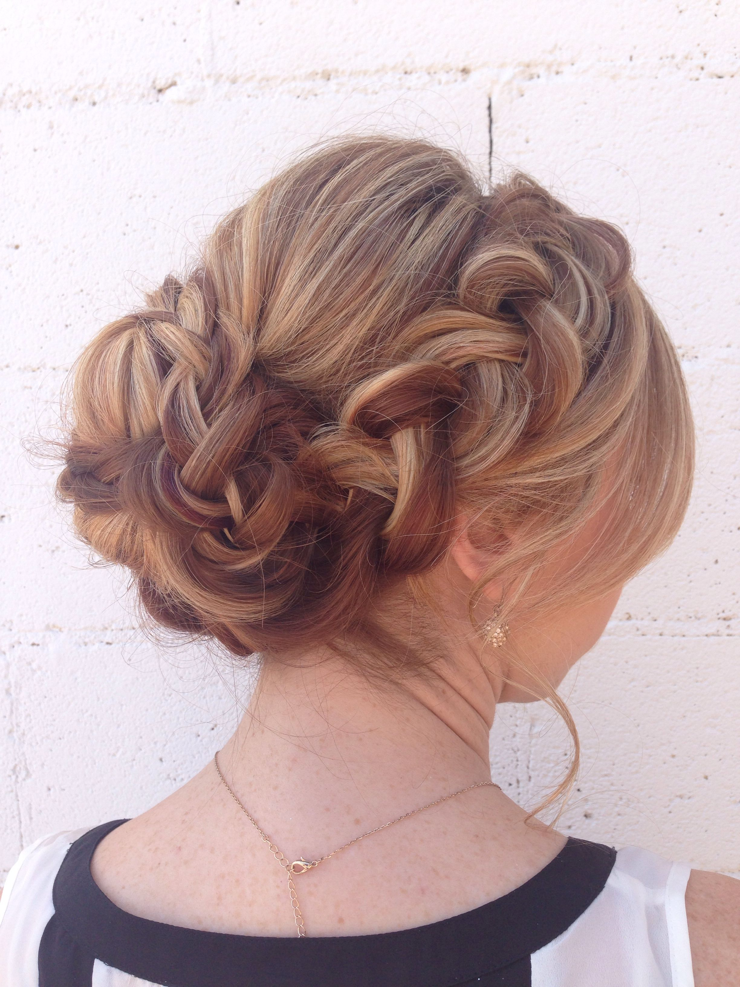 soft braided updo long thick