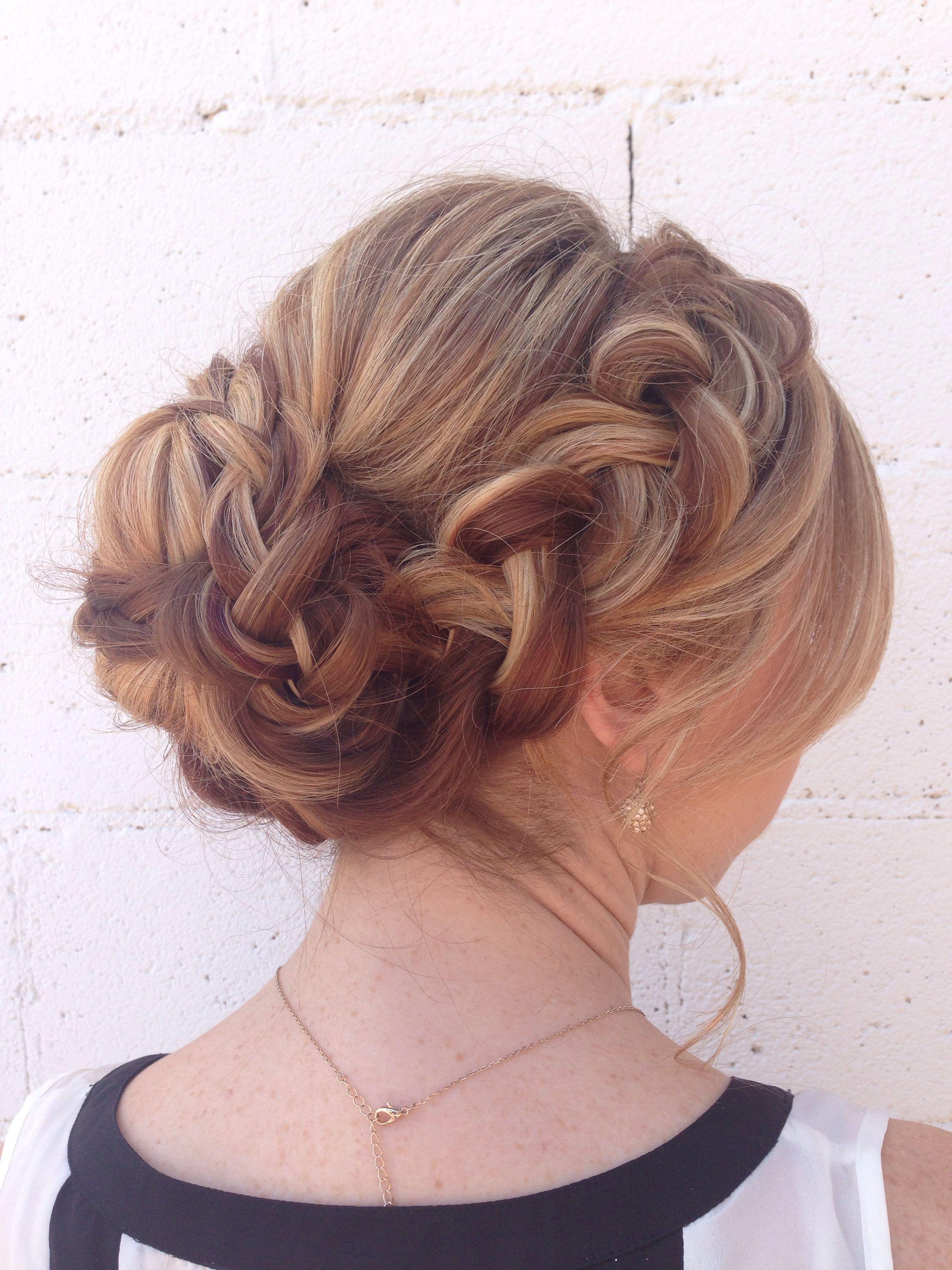 soft, braided updo for long, thick hair. | hair | thick hair