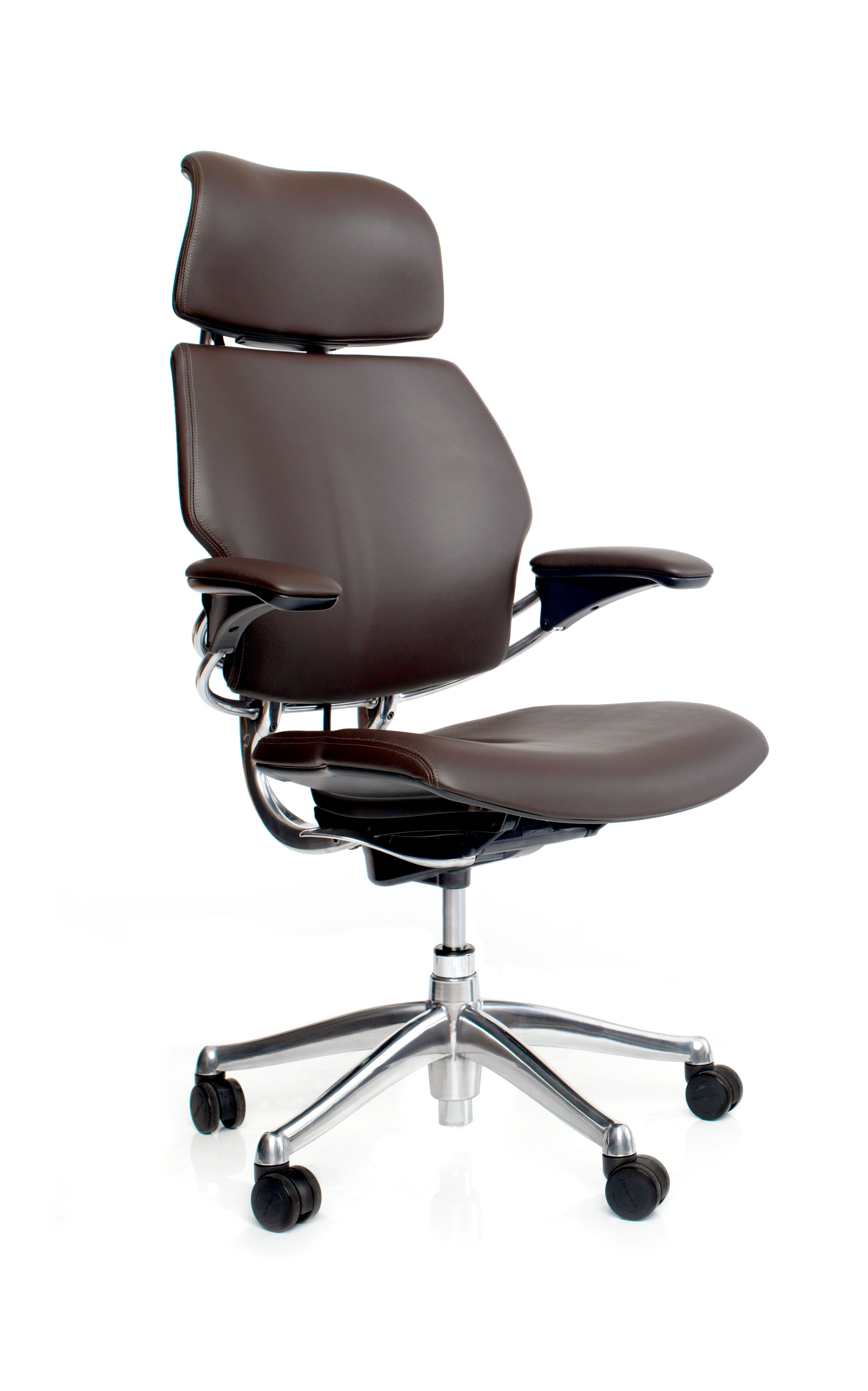 Freedom Headrest Chair Humanscale Niels Diffrient Brown