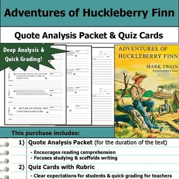 Adventure Of Huckleberry Finn Quote Analysi Reading Quizze Resources Paraphrase