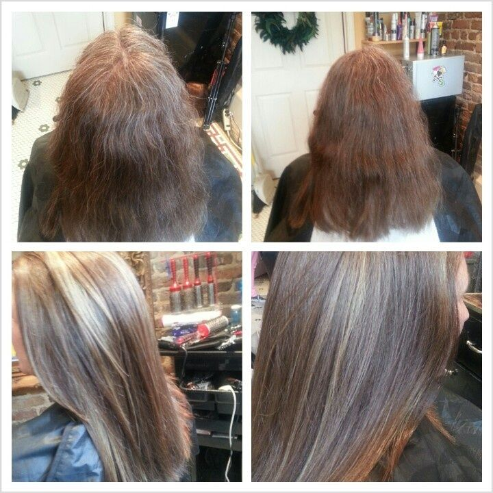 Highlighting Gray Hair Examples 75 Gray To Medium Brown With