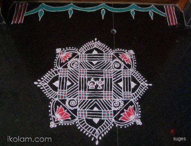 Purattaasi Saturday 3 Kolam Designs Padi Kolam Floor Art