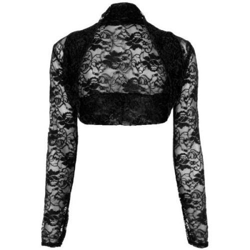 Womens Ladies Open Bolero Long Sleeves Floral Lace Cardigan Shrug Top Plus Sizes