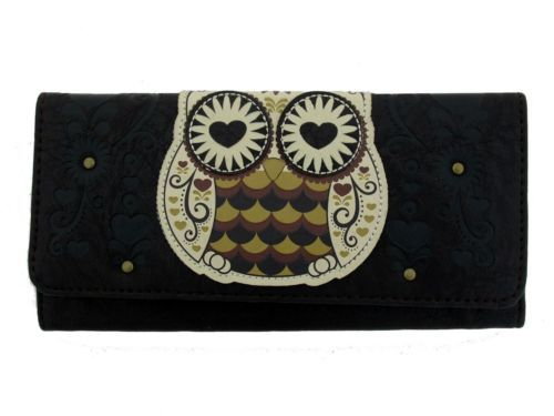76880385e212 Details about Loungefly Wallet Owl Heart Eyes Vegan Leather ...