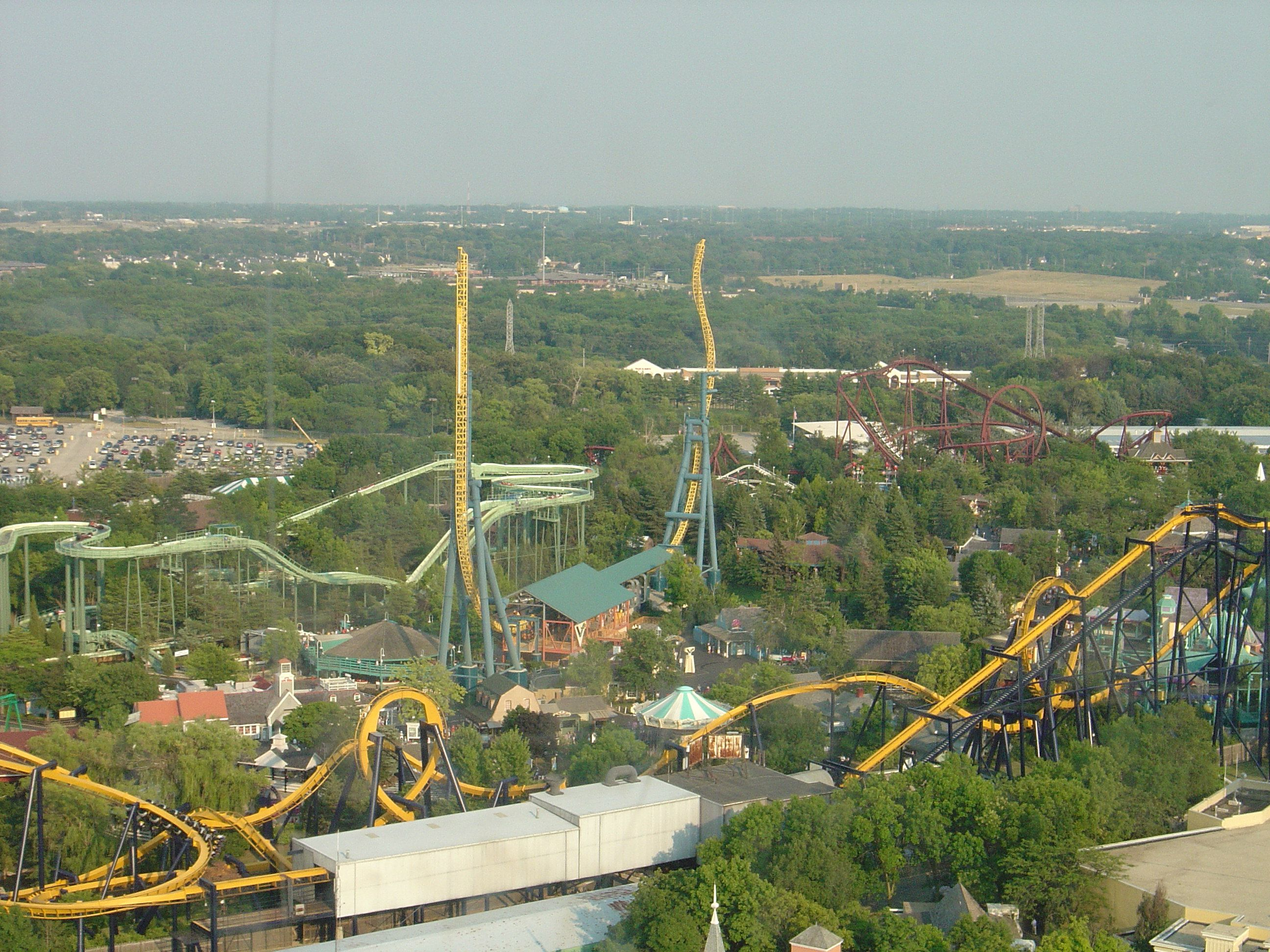 Great America Six Flags Chicago Illinois Great America America Roller Coaster
