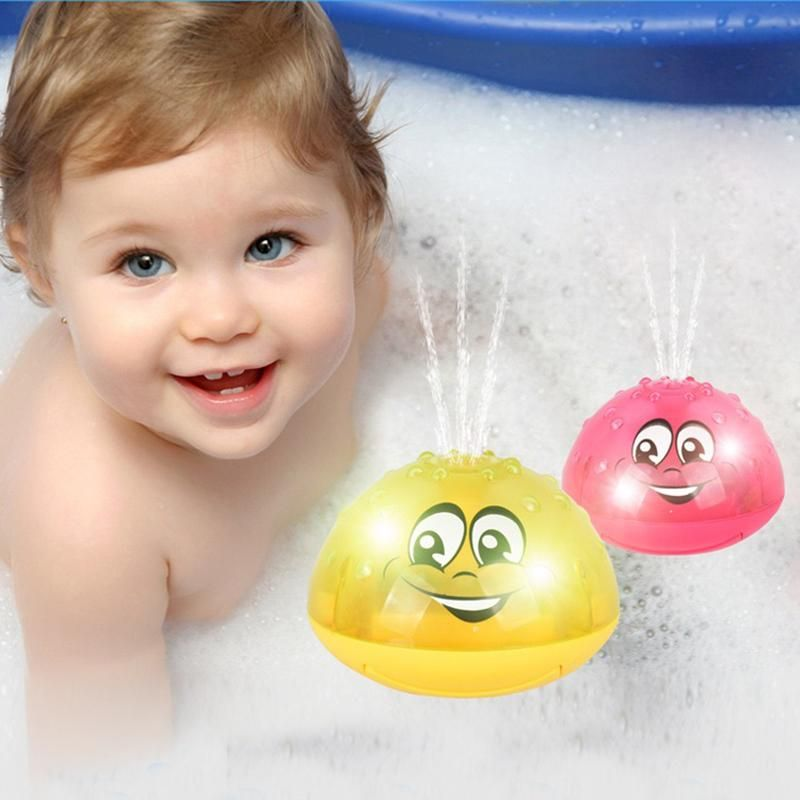 Neborn Funny Infant Kids Electric Induction Sprinkler Toy Light Baby Play Bath Toy Water Toy