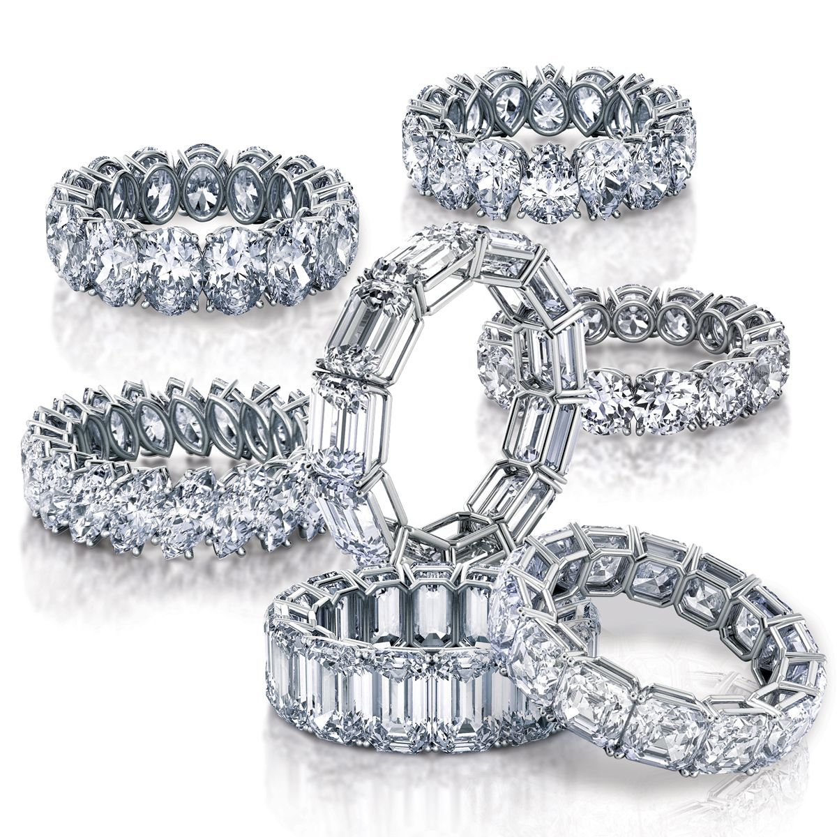 Eternity Bands In Every Fancy Shape You Can Imagine Handcrafted Engagement Ring Luxury Jewelry Brands Unique Wedding Bands
