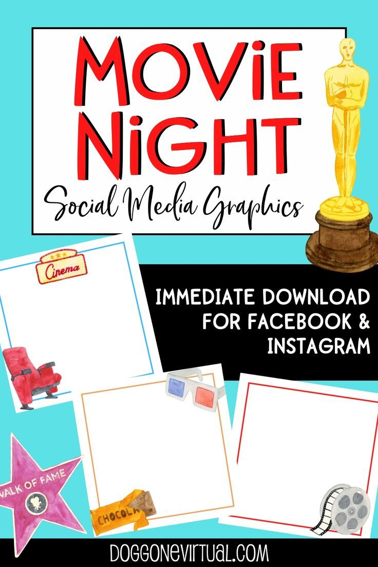 Movie Night Social Media Graphics Dog Gone Virtual in