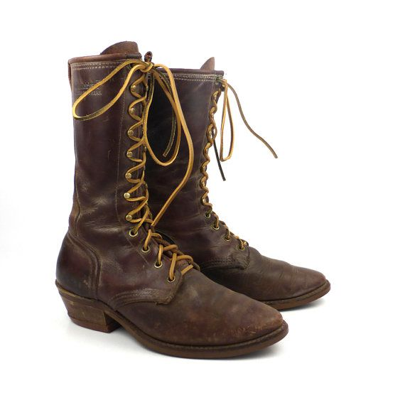 Roper Boots Vintage 1980s Distressed Golden Retriever By