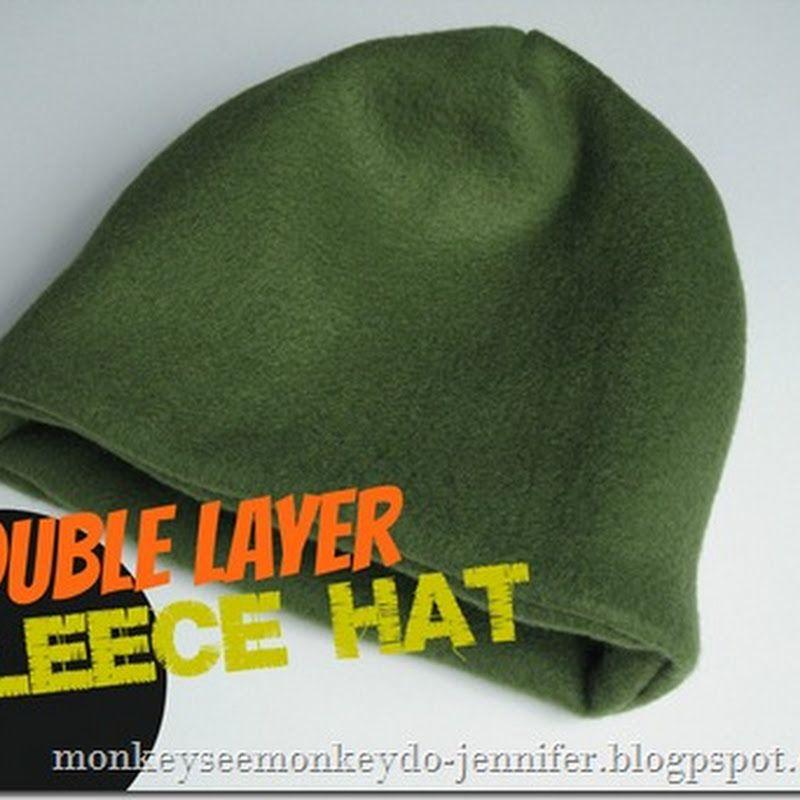 Monkey See, Monkey Do!: Easy Double Layer Fleece Hat Tutorial | Bird ...