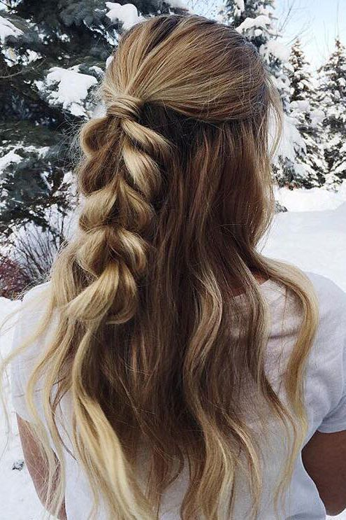 Half Up Half Down Hair With Curls Curled Prom Hair Hair Lengths Medium Length Hair Styles
