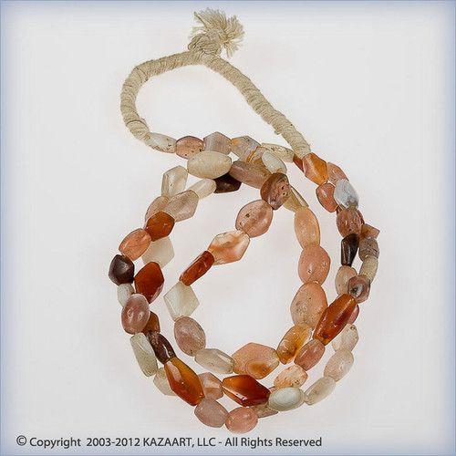 Ancient Carnelian Agate and Quartz Tabular Shape Beads Strand Mali Africa | eBay
