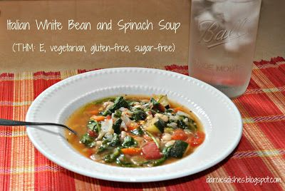 Darcie's Dishes: Italian White Bean and Spinach Soup