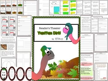 """Reading And Science Integration: """"Yum Yum Dirt"""" (Earthworms)Readers Theater Script & Research ProjectScripts with…"""