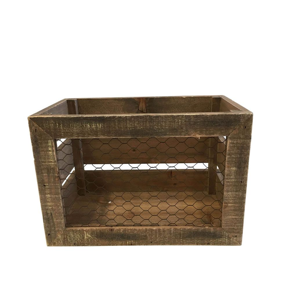 Wood Crate With Chicken Wire Center Atwood 93851 Circuit Board Fuse Large Potted Water Heater Trailer Get The Wooden By Ashland At Michaels Com Rh Pinterest Box Projects