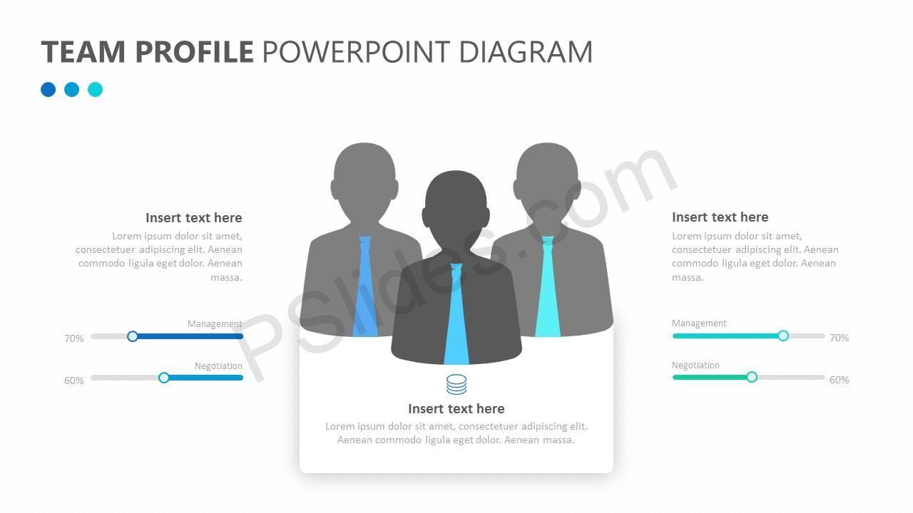 Team Profile Powerpoint Diagram Diagram Insert Text Profile