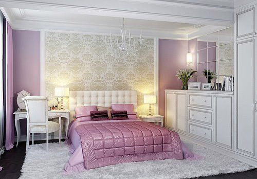 interior design decoration and interiors on pinterest - Chambre A Coucher Blanche Et Mauve