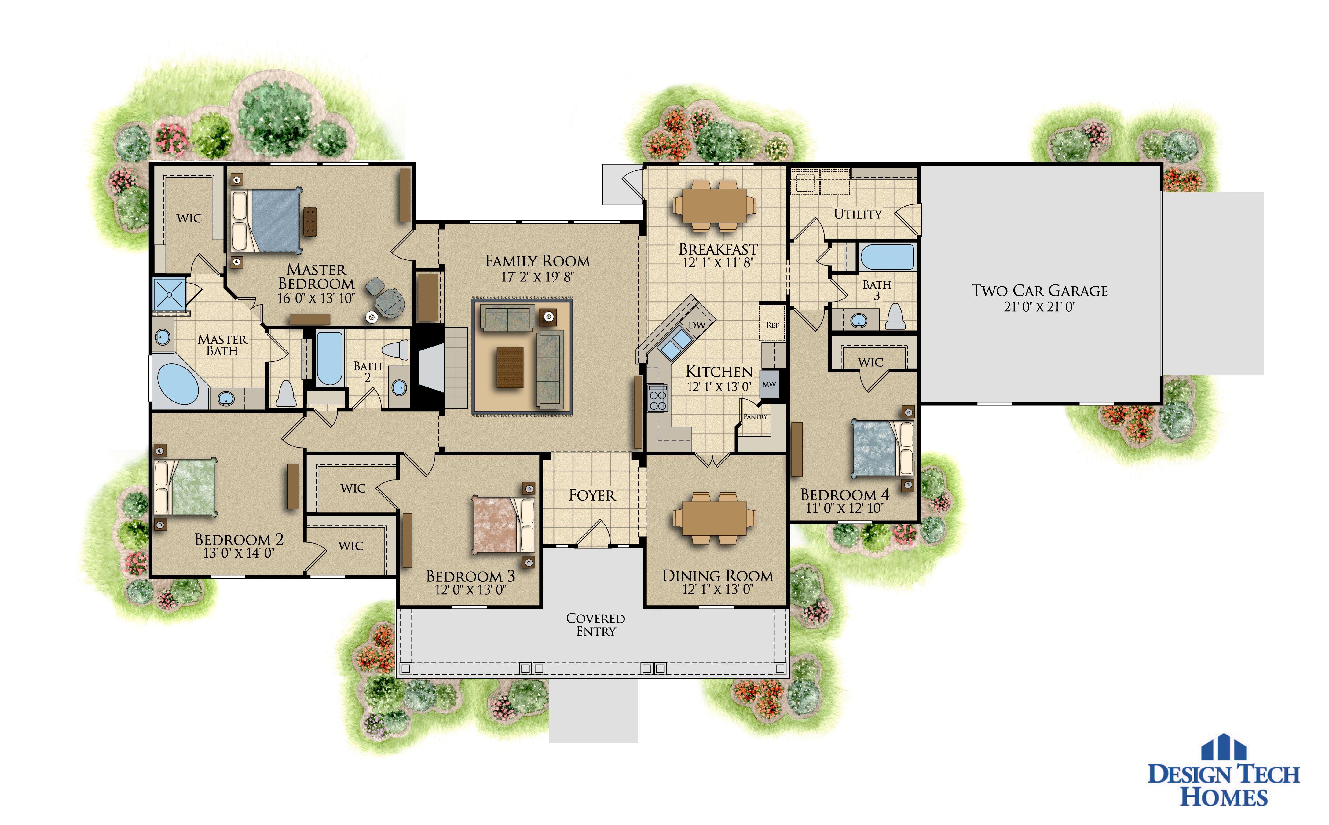 The Saddlebrook Design tech homes 2000 sq ft house