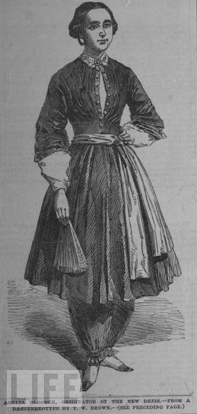 ca88a03ac0 1850  Feminist Amelia Bloomer wearing her namesake pants