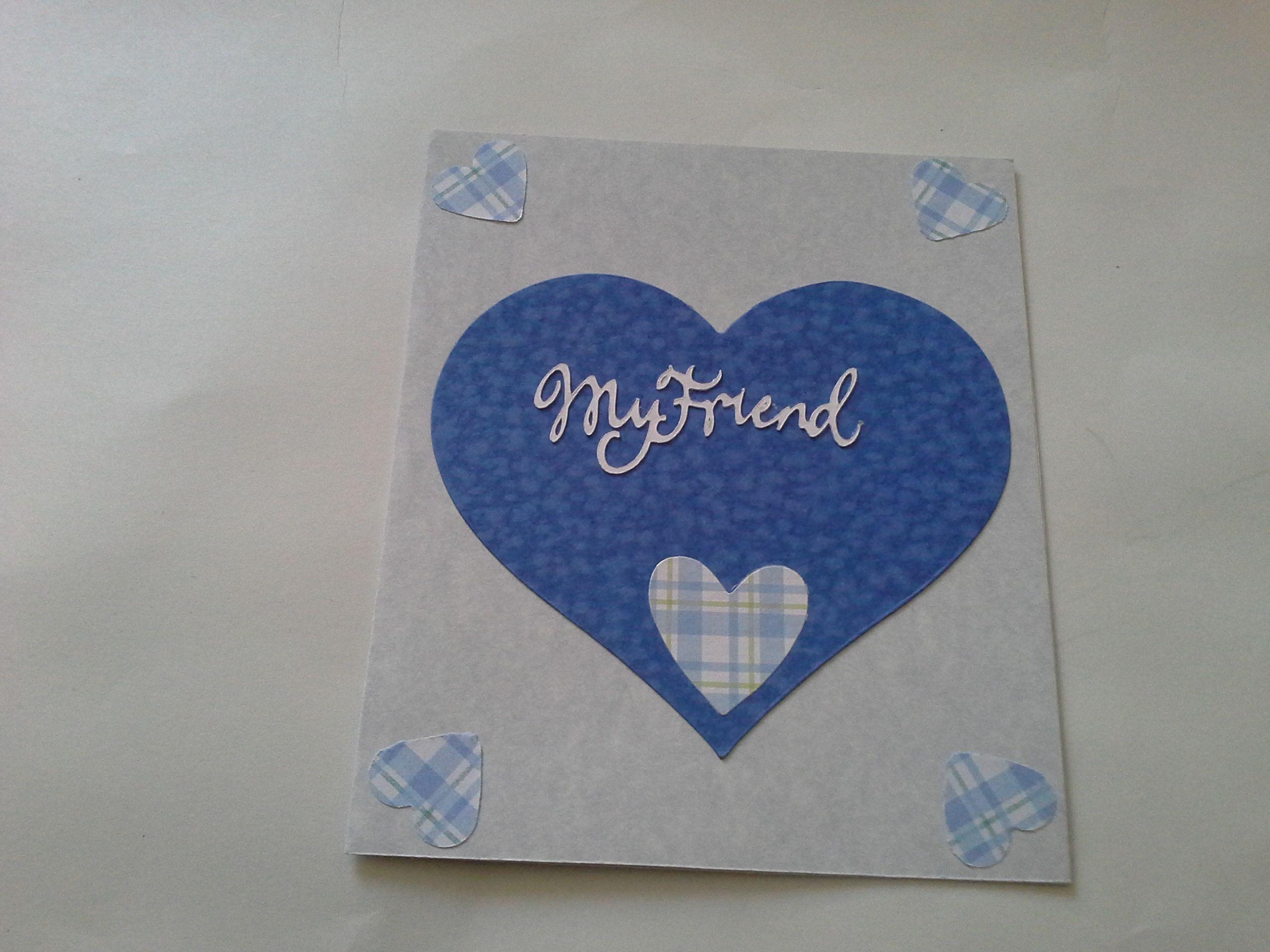 Tarjeta Corazón Azul