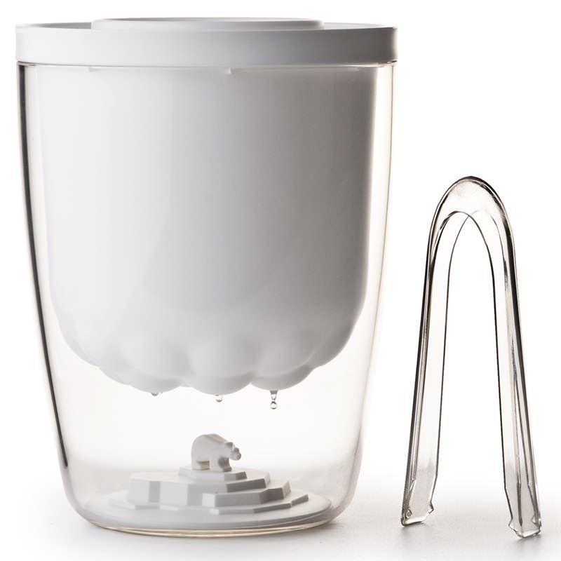 Eiswürfelbehälter inkl. Zange Polar Ice Bucket - Qualy