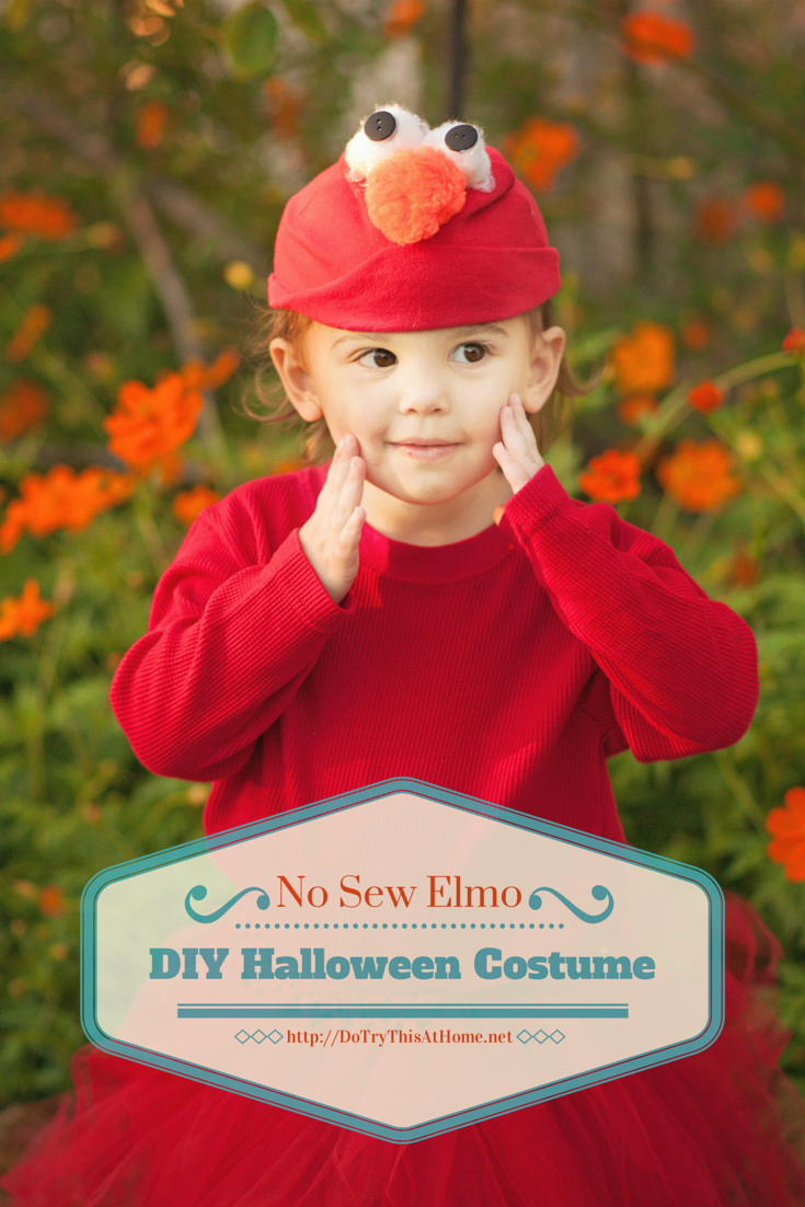 do try this at home diy elmo halloween costume sewing machines need not apply - Halloween Costumes Elmo