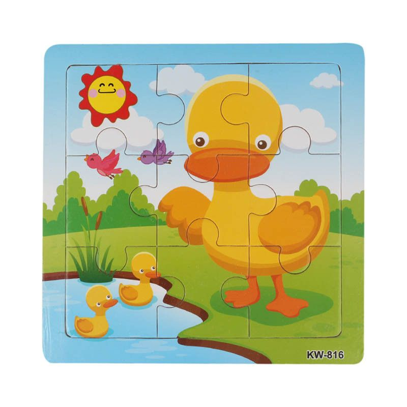Wooden Toy Puzzles Duck Jigsaw Toys For Kids Education And ...