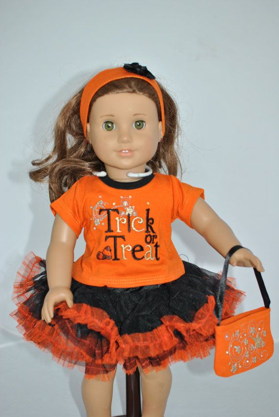Trick or Treat Halloween Costume for 18 Inch by UniqueDollClothing, $15.50 #dollcostume