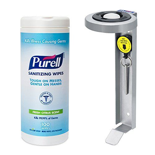 PURELL Hand Sanitizing Wipes - 100 Ct Bracket Kit Purell | Cleaning