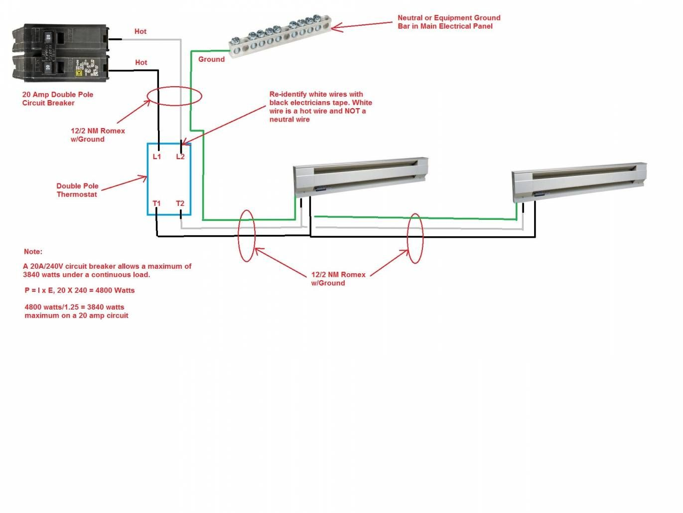 18 Power Pole Wiring Diagram Electric Baseboard Heaters Baseboard Heater Thermostat Wiring