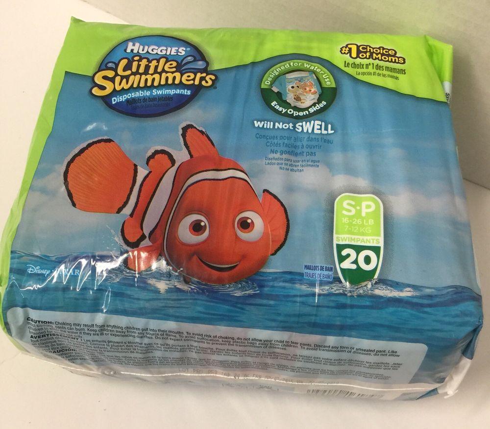 Huggies Little Swimmers 20 Count Disposable Swimpants Diaper Sz 3 16-26 lbs DORY