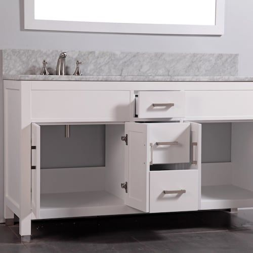 legion furniture wa6260 60 in solid wood double bathroom vanity with rh pinterest com 28 Bathroom Vanity with Sink 48 Bathroom Vanity with Sink