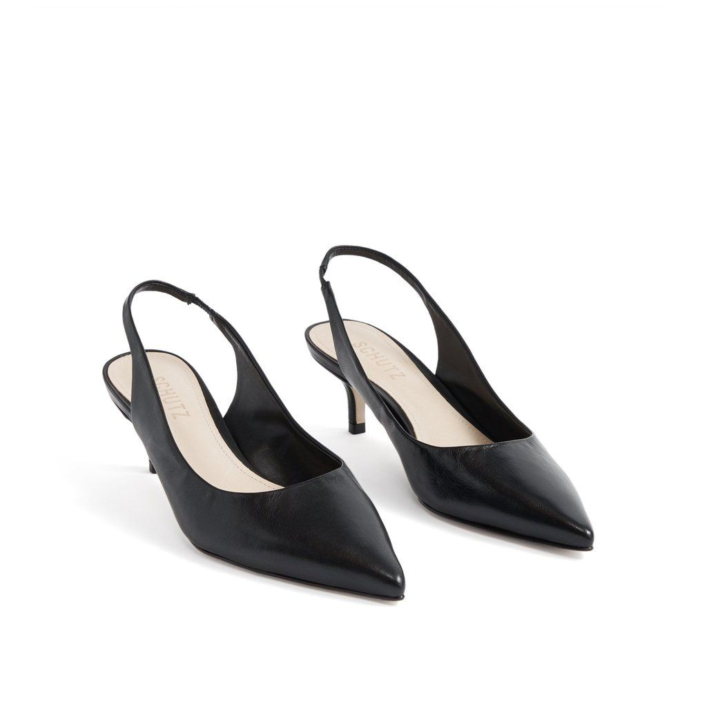 Cambrie Slingback Pump In 2020 With Images Slingback Pump Slingback Leather Heels