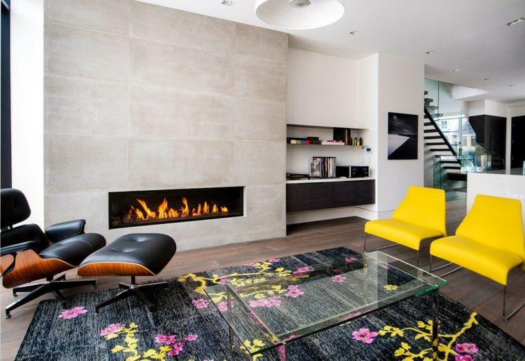 Esempi arredamento soggiorno e una proposta con camino moderno su ...