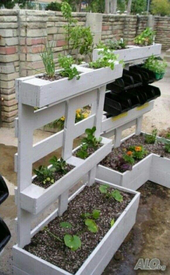 Ongekend paletten plantenbak (met afbeeldingen) | Tuin, Diy plantenbakken UR-94