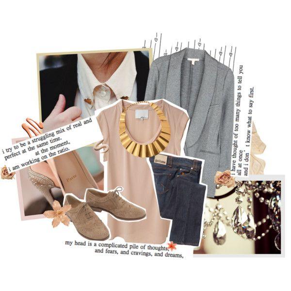 mi blazer gris!! que bien combina con color rosa empolvado!