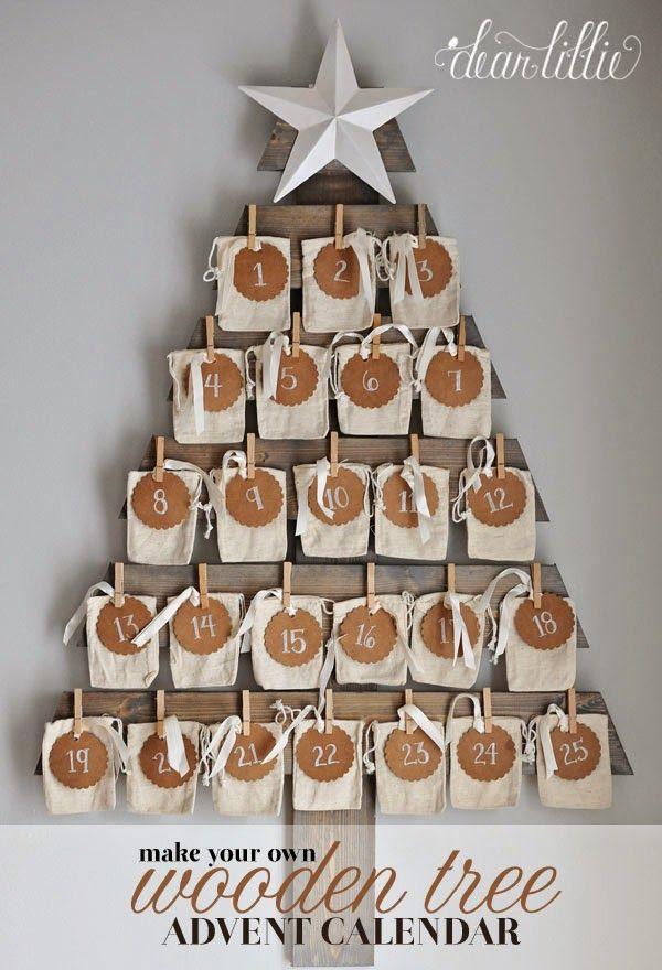 Wooden Tree Advent Calendar Tutorial (Dear Lillie) Wood