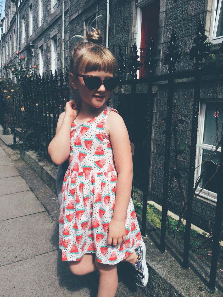 a5646ceb3c10 Violet in h&m kids watermelon dress, Disney villains Vans and primark kids  cat eyes #
