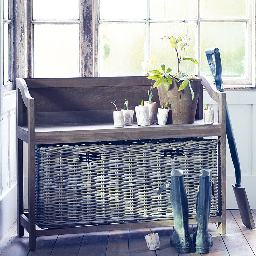 Henley Basket Storage Bench