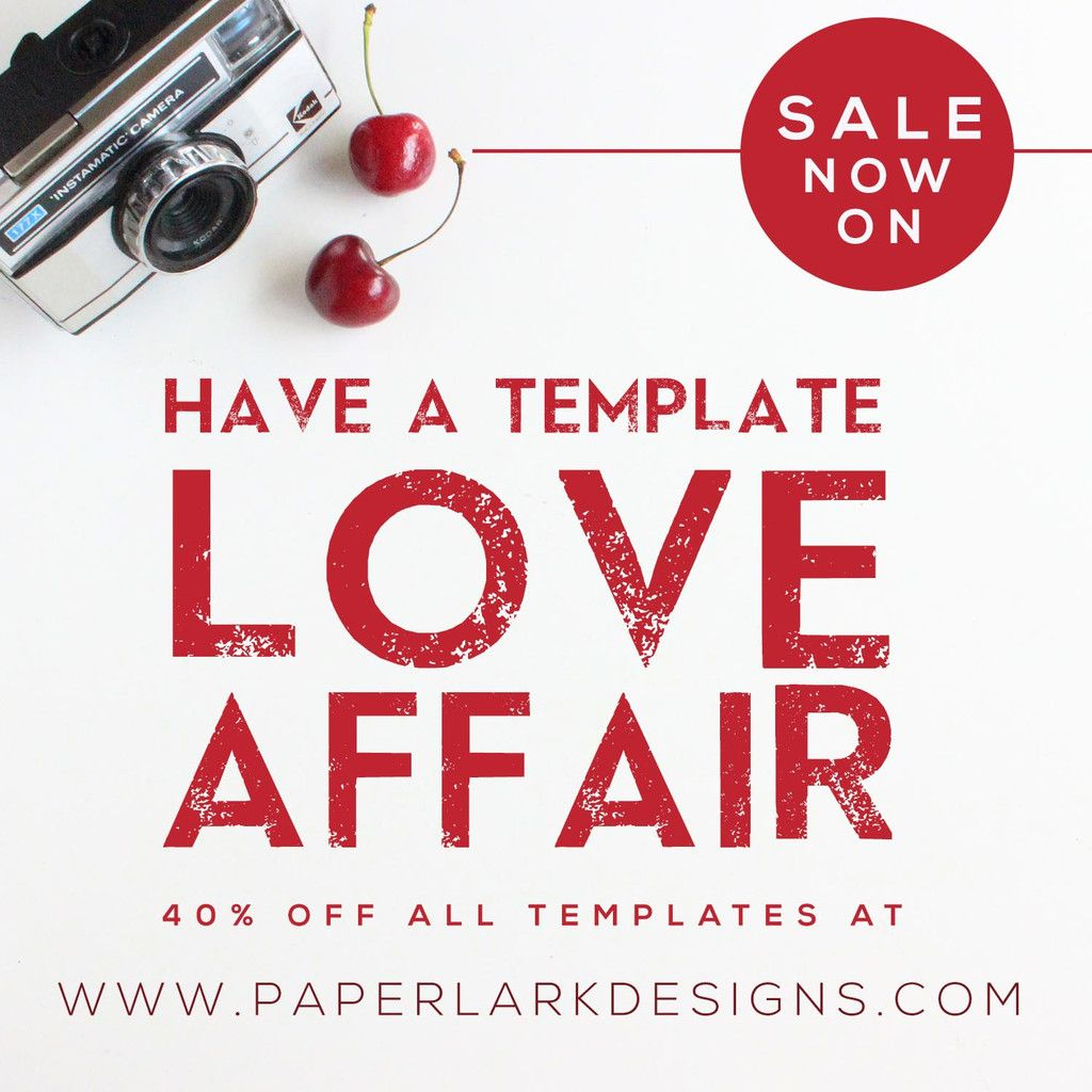 It's that time of year when everyone is 'loved up' and Paper Lark is no exception. I have just launched a VALENTINE TEMPLATE SALE just for you. It's totally LOV